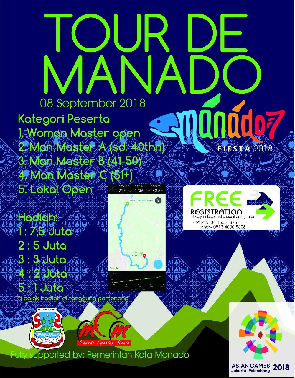 Daftar Peserta Sementara Tour de Manado 2018